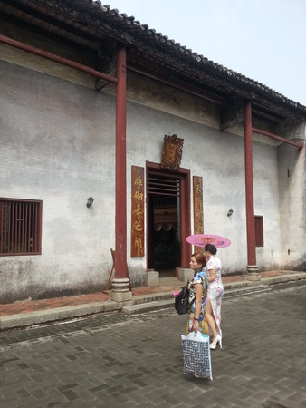 Former Residence of Liu Yongfu with Cheongsam woman