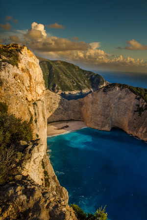 Navagio beach in sunset, Zakynthos