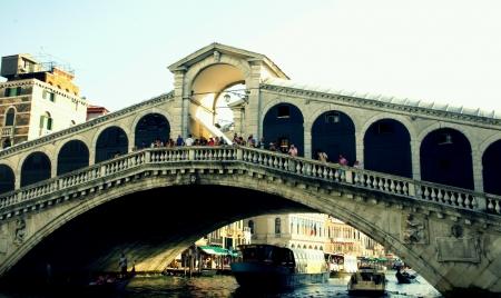 rialto: The Rialto Bridge Venice Italy  Stock Photo