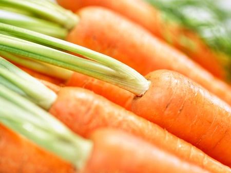 zanahoria: Mont�n de primer plano cosecha fresca crujientes zanahorias Foto de archivo