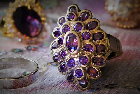 diamond rings: Purple Diamond Rings