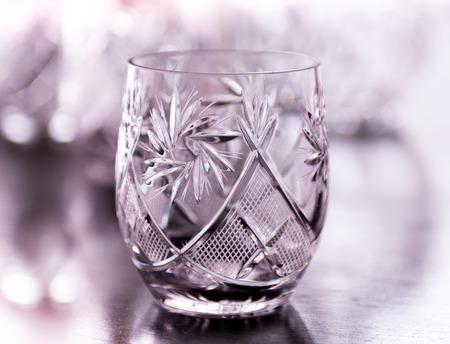 crystal glass: beautiful crystal glass