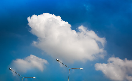 to seem: the beautiful white cloud seem like a rat Stock Photo