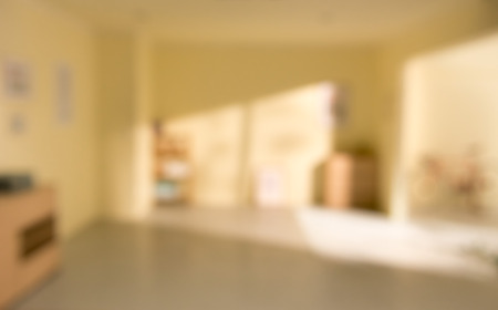 focus on background: the out of focus image of living room