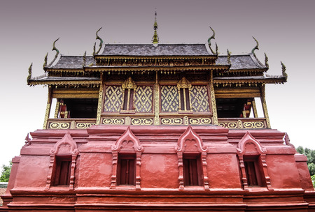 scripture: the origin of this Buddhist scripture tower or Ho Tham stay in Lhumphun Thailand