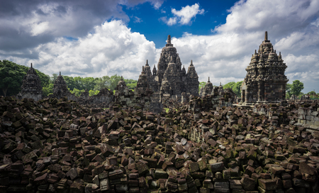the biggest ruined Hindu temple in Indonesia