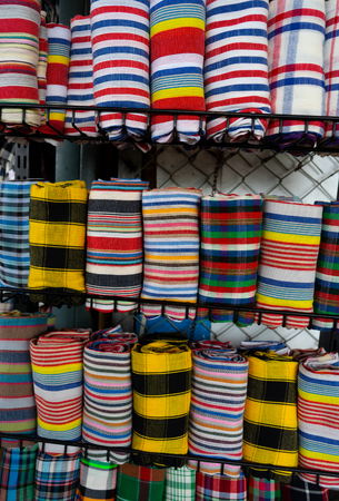 Thai people use this loincloth a lot in summer because it is very thin and easy to dry.
