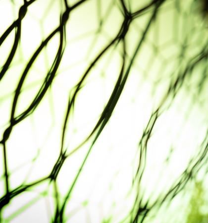 the blurred look of iron window Stockfoto