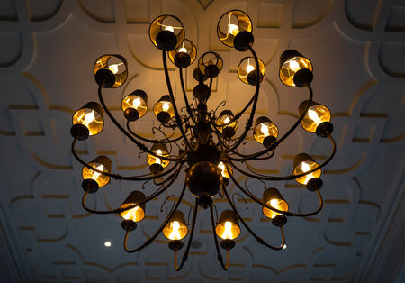 big and beautiful chandelier in a luxury house