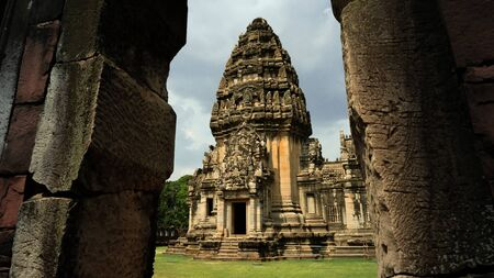 the very big temple Pimai was built by sandstone. Stok Fotoğraf