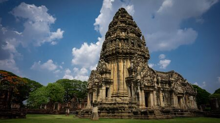 the very high aand beautiful sandstone of Pimai in Thailand