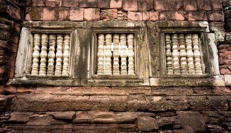 very strong window beside the big wall of Pimai.