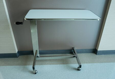 the adjustable table for the patient in hospital.