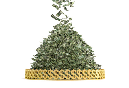 Money Rain - Stapel van Cash