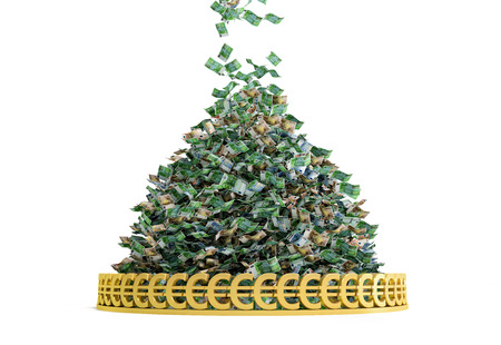 cash money: Money Rain - Pila de billetes en euros