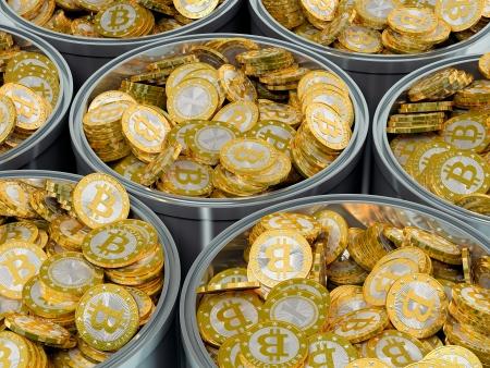 Bitcoin マイニング 写真素材
