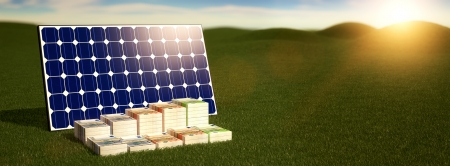 Solar Panel - make money from renewable energy 写真素材