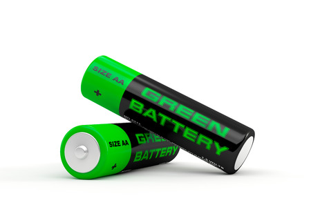 3D illustration of batteries