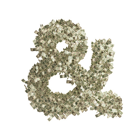 Ampersand Sign   made from Dollar bills photo
