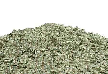 loteria: Pila de dinero en efectivo - D�lares Foto de archivo