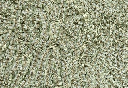 Ocean of Money - Dollars  Stock Photo