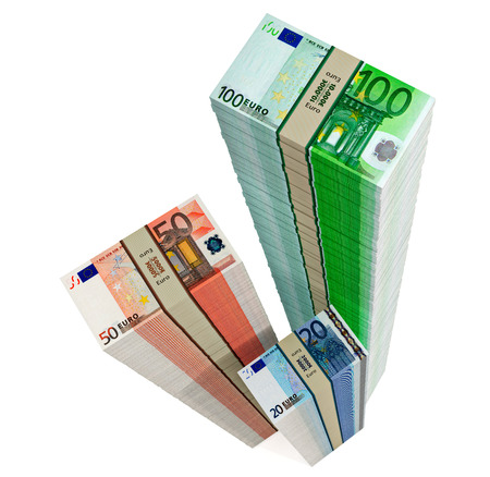 windfall: Euro banknotes  Stock Photo