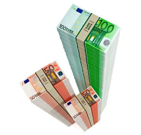 counterfeiting: Euro banknotes  Stock Photo
