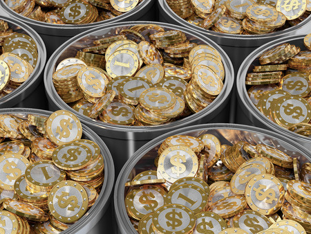 rewarding: Golden Coin - Dollar symbol