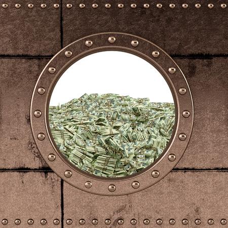 porthole - safe - ocean of money photo