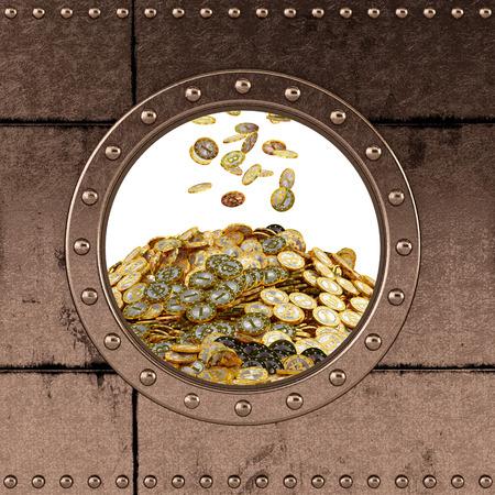 porthole - safe - bitcoins photo