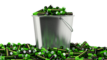 Alkaline Batteries in a bucket