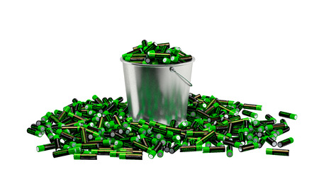 alkaline: Alkaline Batteries in a bucket