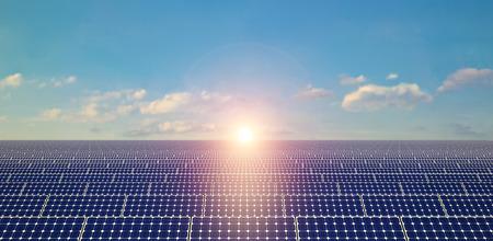 paneles solares: Paneles solares - Antecedentes Foto de archivo
