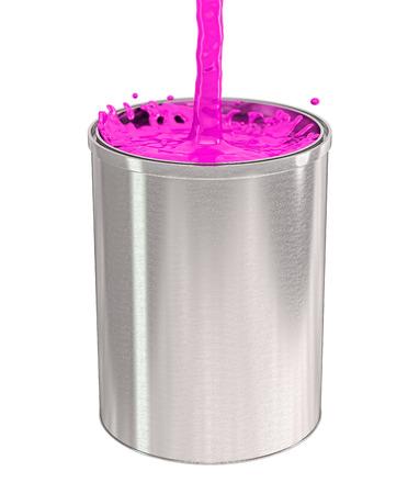 Paint bucket - splash photo
