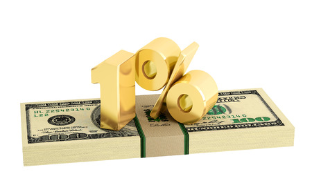 interest rate: 1% - savings - discount - interest rate - isolated on