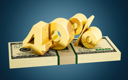 interest rate: 40% - savings - discount - interest rate Stock Photo