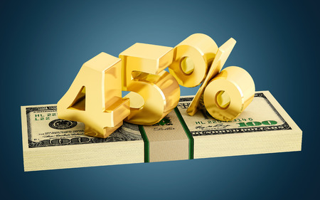 interest rate: 45% - savings - discount - interest rate