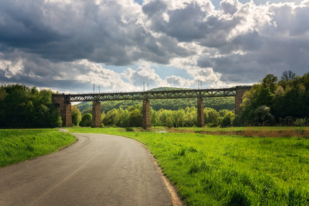 pictorial: Pictorial view of a train bridge in Germany