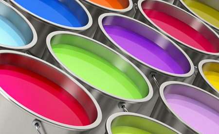 Paint buckets 写真素材