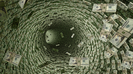 Dollar Pipeline veel 20 Dollar Bills. Stockfoto