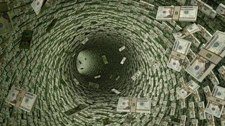 Un sacco di dollari Pipeline di 20 Dollar Bills. Archivio Fotografico - 40129828