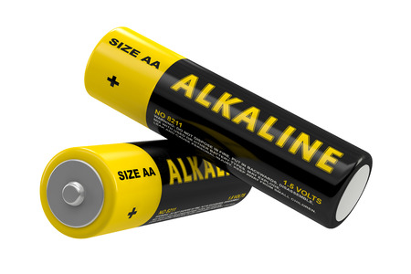 alkaline: Alkaline Batteries  isolated on white