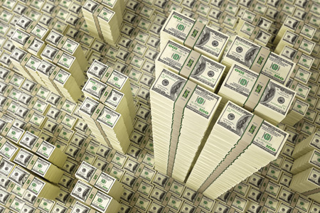 dollar: Mucchi di fatture del dollaro Archivio Fotografico