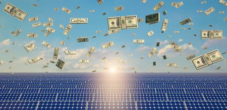 Zonnepanelen - Achtergrond Stockfoto