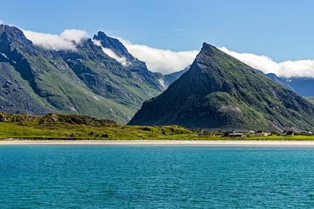 coastline: Lofoten Islands in Norway coastline