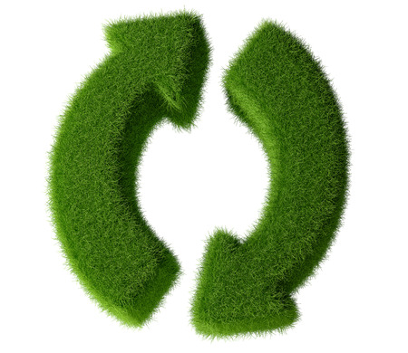logo recyclage: Haute R�solution Arrows - Herbe look - Rotation Arrows. Actualiser, Recharger et recycler