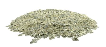 Millionen von Dollar - 100 Dollar Banknoten - 3D Rendering Standard-Bild