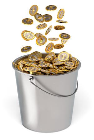 Ethereum Coins - 3D Rendering Reklamní fotografie