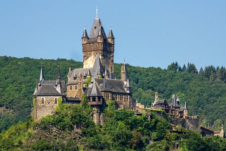 Reichsburg Cochem. Cochem, Duitsland. Stockfoto