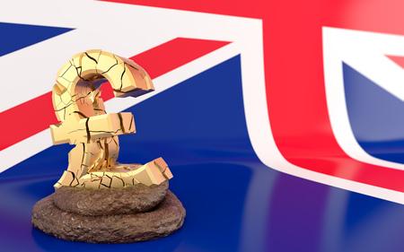 Brexit - in deep poop - 3D Rendering
